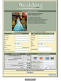 click to visit: Austin Wedding Magazine Order Form